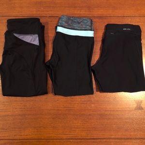 Bundle - three capri style athletic pants